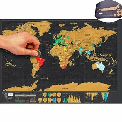 Scratch Off Journal Deluxe Log Gift The Giant Map Of Map World World Poster