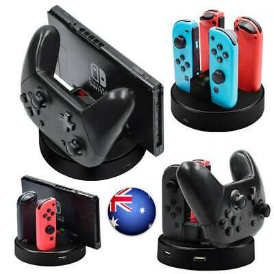 5IN1 For Nintendo Switch NS Pro JoyCon Charger Charging Dock Console Controller