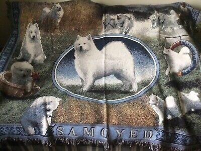 Samoyed Working Dog Custom Design Afghan Throw by Millcreek Designs USA