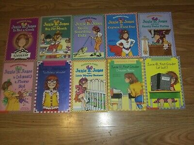 TEN-PACK BUNDLE/LOT OF JUNIE B JONES BOOKS~ Children's Chapter Books