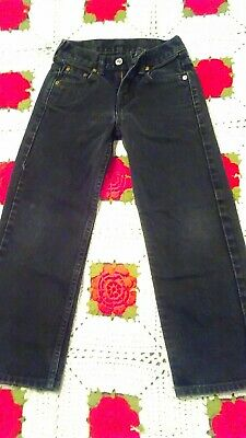 Levi's 550 Black Jeans Youth Kids Sz 8 Slim relaxed 22x22 Children