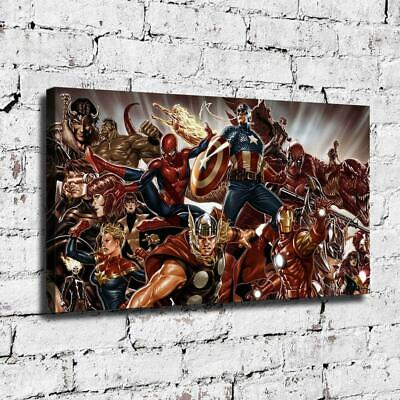 "12""x22"" Marvel Hero HD Canvas prints Painting Home decor Room Wall art Picture"