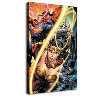 "12""x18""Superman Wonder Woman HD Canvas print Painting Home decor Room Wall art"