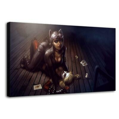 """12""""x22""""Catwoman and Harley Quinn HD Canvas prints Painting Home decor Wall art"""