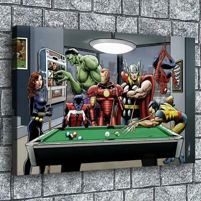 "12""x20"" Super Hero HD Canvas prints Painting Home decor Room Wall art Pictures"