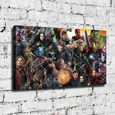 """12""""x22"""" Marvel Heroes HD Canvas prints Painting Home decor Room Wall art Picture"""