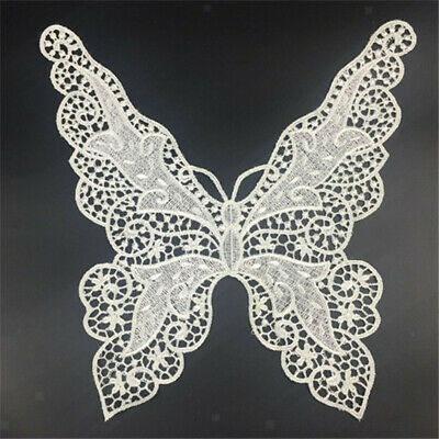 FD4575 Triangle Back Butterfly Lace Collar Neckline Embroidery Patch Trims DIY ♫