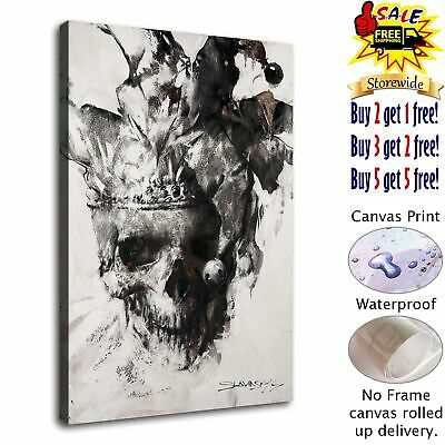 """12""""x18"""" Abstract Skull HD Canvas print Painting Home decor Room Wall art Picture"""