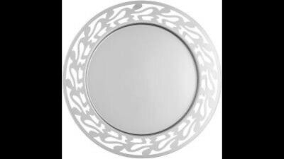 Alessi SG30 Ethno Round Serving Tray 1810 Stainless Steel Mirror Polished