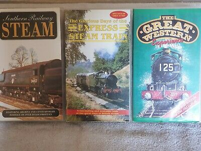 Three Steam Train vhs videos - All in excellent condition