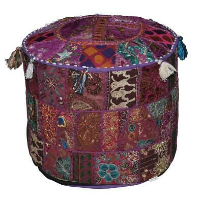 Pouf Home Decorative Living Room Foot Stool Ottoman Cover Vintage Indian Kantha