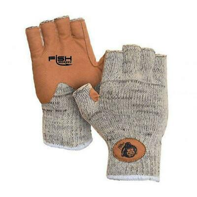 Fish Monkey Gloves Stubby Guide Glove Large FM18-GREYWTRCAM-L Grey Water