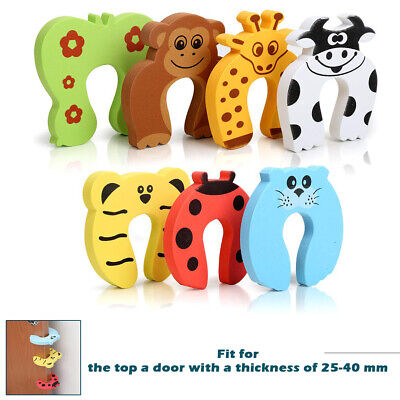 7x Baby Safety Animal Foam Door Jammer Guard Finger Protector Stoppers Home IFA