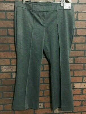 New York & Co Gray City Knit Fit & Flare Leg Women's Dress Pants Size 18 Petite