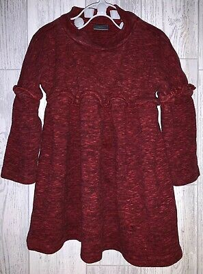 Girls Age 9-12 Months - Next Beautiful Red Long Sleeved Dress - Excellent Cond