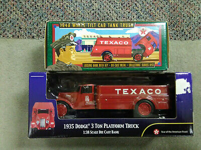 Texaco lot#3, 2 ERTL Diecast banks 1996 & 2002