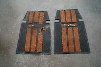 1980 Toyota Celica Liftback GT - FRONT LEFT & RIGHT RUBBER MATS OEM ORIGINAL
