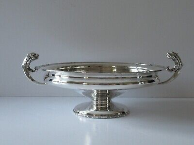 """George V Chester Hallmarked 1911 Silver Footed Bowl/Tazza - 8"""" Diameter"""