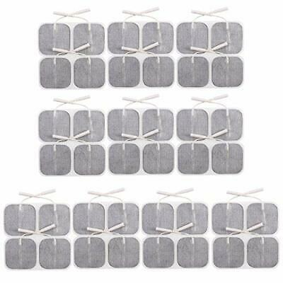 2X2 Inch Square Self-Adhesive Electrode Pads for Use with TENS Unit - Pack of 10