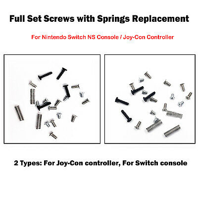 Full Set Screws with Springs For Nintendo Switch NS Console / Joy-Con Controller