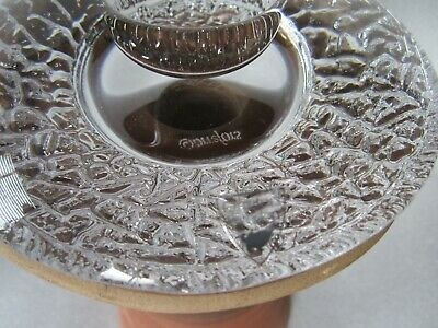 Vintage Haeger Pottery Mission Candle Holder 3184 Orrefors Discus Frosted Insert