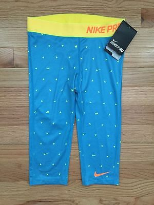 Nike Girls Dri Fit Pro Compression All Over Graphic Capris Save 30% Large