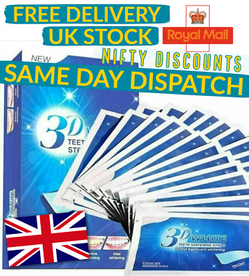 🦷 3D Professional Advanced Teeth Whitening Strips 6pcs 3 DAY SUPPLY Sample Pack