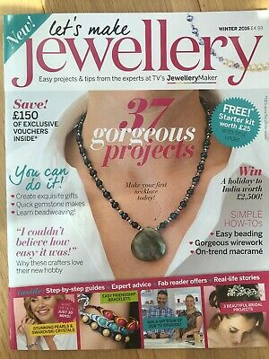 Jewellery Making Magazine Lets Make Winter 2016 Craft