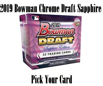 2019 Bowman Chrome Draft Sapphire Refractor Pick Your Card QTY Avail FREE SHIP