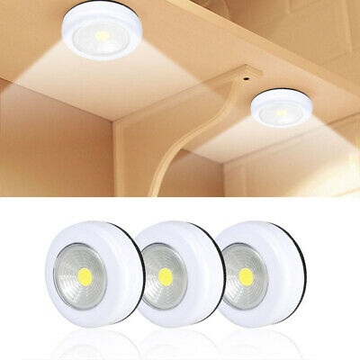 COB LED Under Cabinet Light With Adhesive Sticker Wireless Wall Lamp Wardrobe