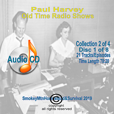 Set 2 / 4 The Rest Of The Story Paul Harvey Old Time Radio OTR 8 Audio CD 10+hrs