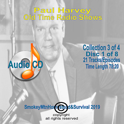 Set 3 / 4 The Rest Of The Story Paul Harvey Old Time Radio OTR 8 Audio CD 10+hrs