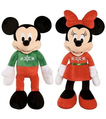 Disney Mickey /& Minnie Mouse Christmas 2019 Deluxe Soft Plush Toy BNWT