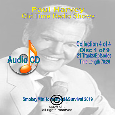 Set 4 / 4 The Rest Of The Story Paul Harvey Old Time Radio OTR 9 Audio CD 10+hrs