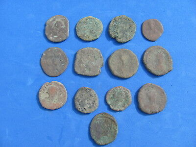 RARE Lot 13 Large BYZANTINE coins!!!150 grams