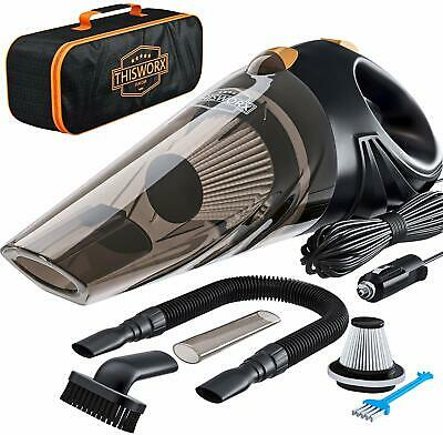 ThisWorx TWC-01 Portable Car Vacuum Cleaner Dry/Wet Strong Suction HEPA Filter