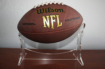 Premium Clear Acrylic Football Display Holder Ball Stand Modern Design NCAA NFL