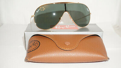 RAY BAN New Sunglasses Wing Gold G-15 Classic Green RB3597 905071 33 140