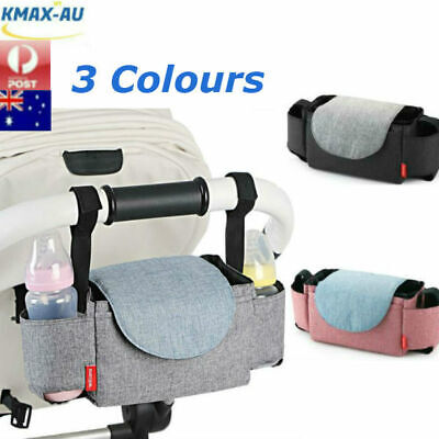 Baby Pushchair Organiser Cup Bottle Holder Mummy Bag Storage Buggy Stroller Pram