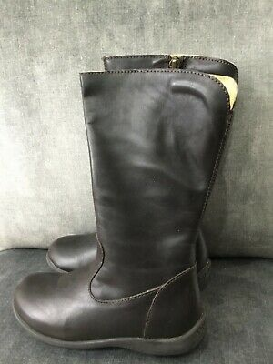 PRIMIGI Girls infant dark brown nappa leather boots knee high  UK 10  Eur 28 new