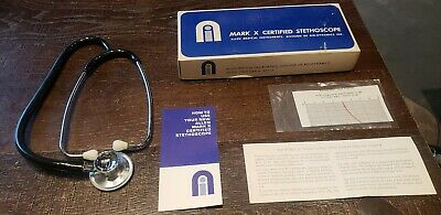 Bio-Dynamics Allen Mark X Certified Stethoscope - Vintage New in Original Box