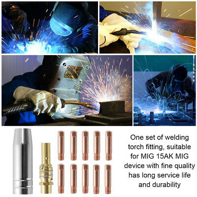 24PCS 15AK Portable Welding Nozzles Connecting Rod Conductive Torch Consumables