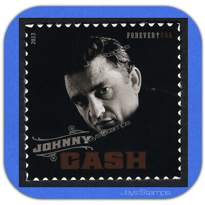 2013  JOHNNY CASH  Music Icon Series  USPS Forever® Individual Stamp  MINT #4789