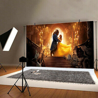 Beauty and the Beast Backdrop Vinyl Photography Photo Background Props Banner