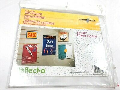 Clear 11 x 17 Inches Plastic deflect-o 68001 Classic Image Single-Sided Wall Sign Holder
