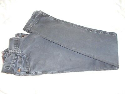 NEXT boys jeans aged 12 152 cm - black adjustable waist logo cotton blend