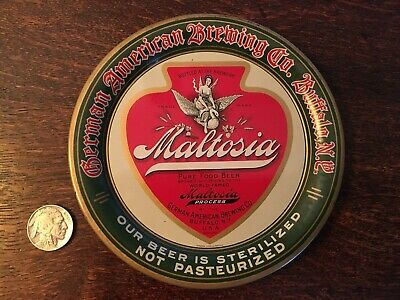 Maltosia Vintage Tip Tray - German American Brewing Co - Buffalo New York *MINT*