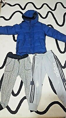 Bundle BOYS 9-10 Years adidas tracksuit bottoms and ZARA puffer down jacket