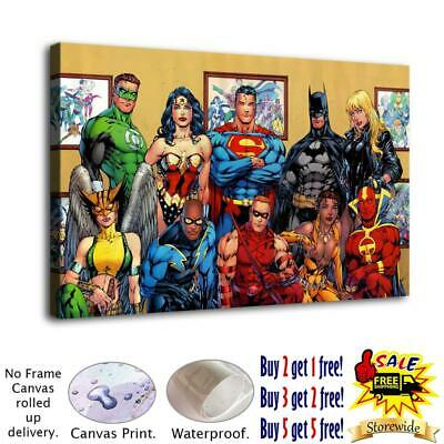 """12""""x20"""" DC Hero Poster HD Canvas print Painting Home decor Room Wall art Picture"""