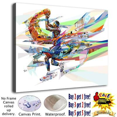 """12""""x16"""" Abstract Basketball HD Canvas prints Home decor Posters Wall art Picture"""